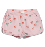 Siaomimi Gym Shorts - Red Tulip