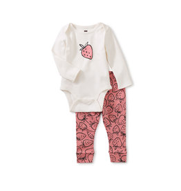 Tea Collection Bodysuit Baby Outfit- Strawberries