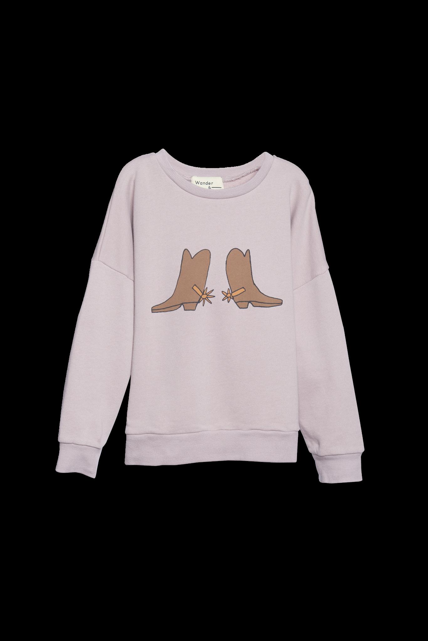 Wander and Wonder Summer Sweatshirt - Mauve
