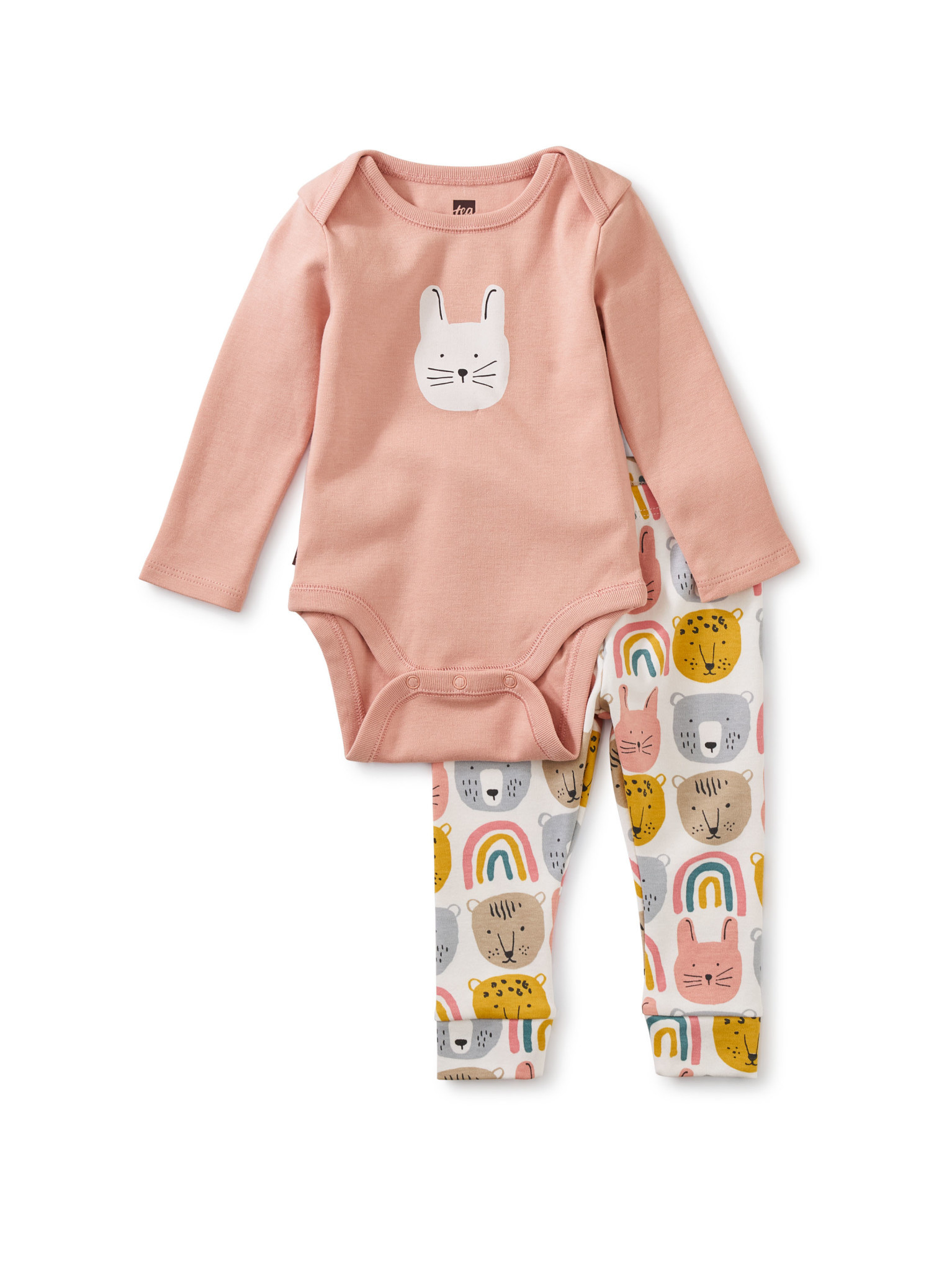 Tea Collection Bodysuit Baby Outfit- Rainbow