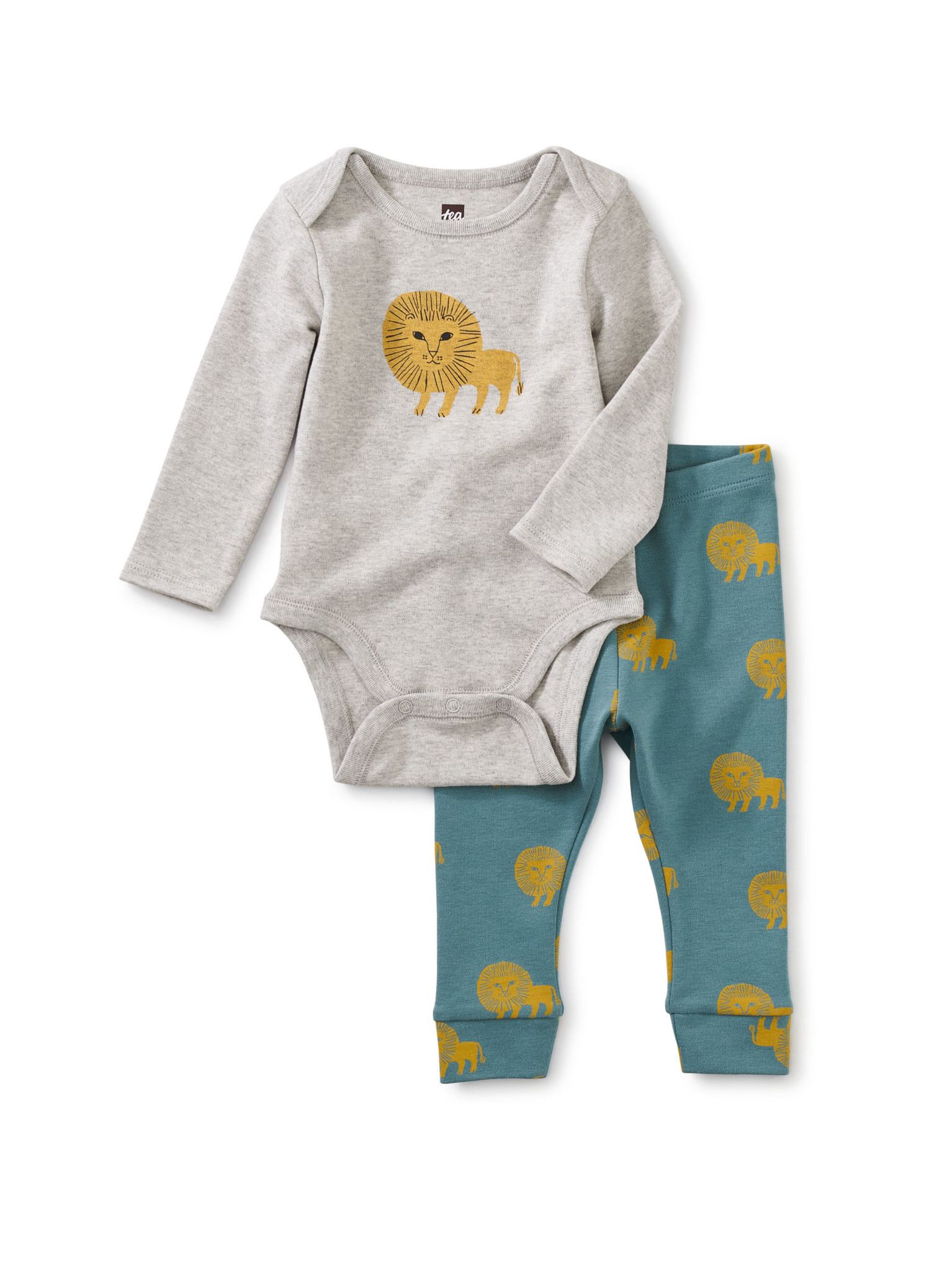 Tea Collection Bodysuit Baby Outfit- Lions