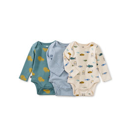 Tea Collection Bodysuit Three-Pack- Lions
