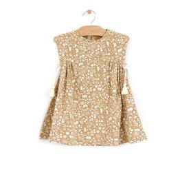 City Mouse Golden Garden Baby Dress