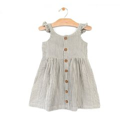 City Mouse Stripe  Baby Dress