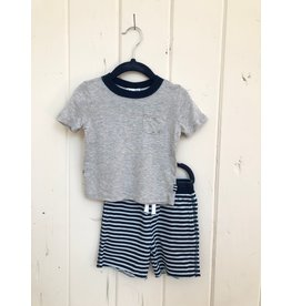 Splendid Indigo Stripe Baby Short Set