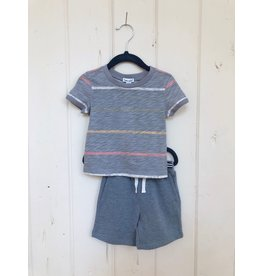 Splendid Painted Stripe Tee Baby Set
