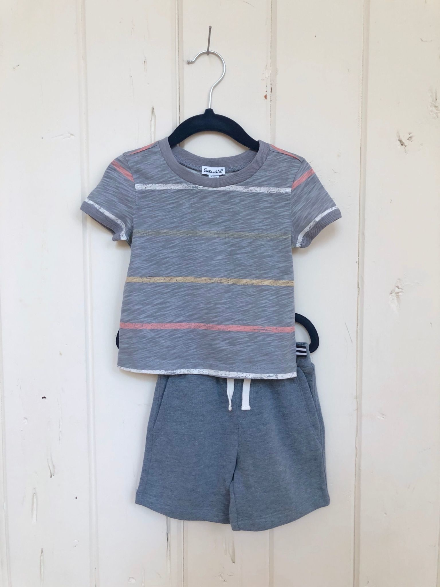 Splendid Painted Stripe Tee + Short Set
