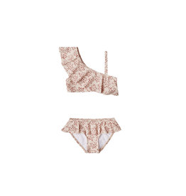 Rylee & Cru Flower Outline Skirted Bikini