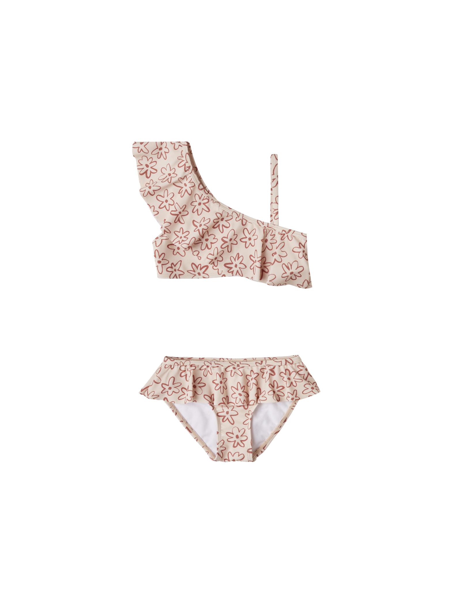 Rylee & Cru Flower Outline Skirted Bikini