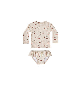Rylee & Cru Cherries Baby Swimsuit Set