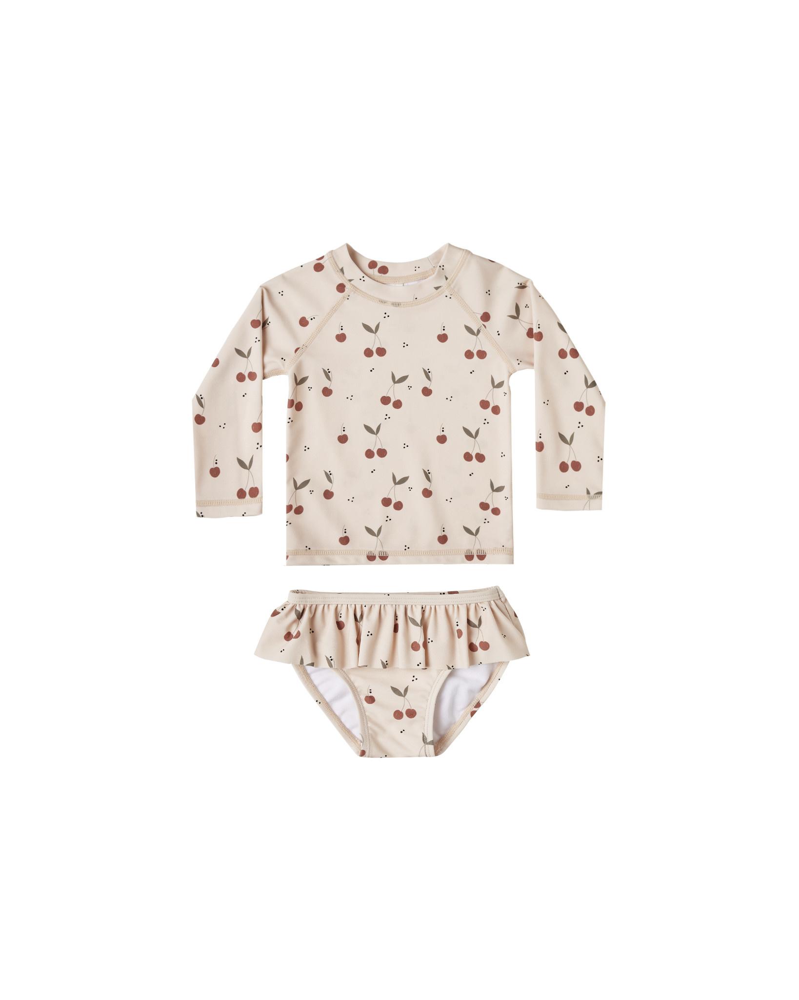 Rylee & Cru Cherries Swimsuit  Set