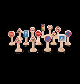 Plan Toys Set of Traffic Signs & Lights- Euro