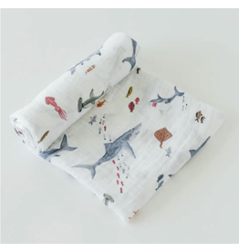 Little Unicorn Swaddle Blanket - Shark