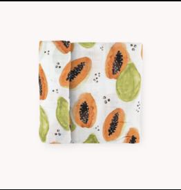 Little Unicorn Swaddle Blanket - Papaya