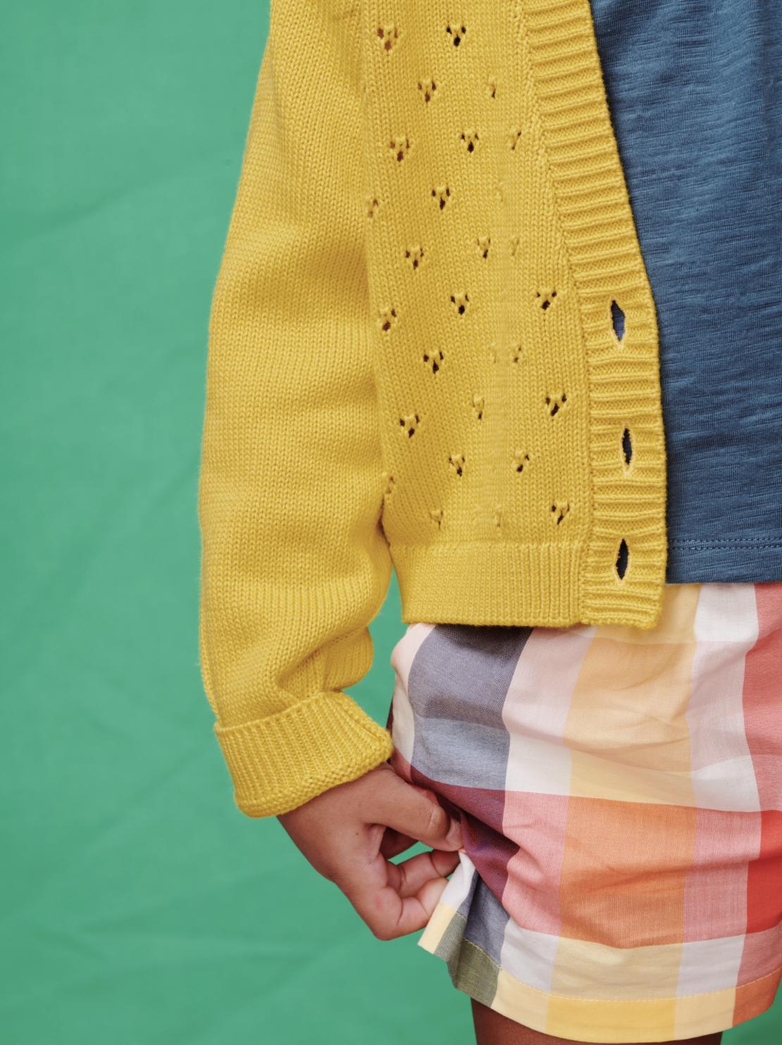 Tea Collection Flutter Detail Culottes- Sintra Plaid