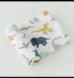 Little Unicorn Swaddle Blanket - Dino Friends