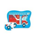 Crocodile Creek Fire Truck Mini Puzzle 12 pc