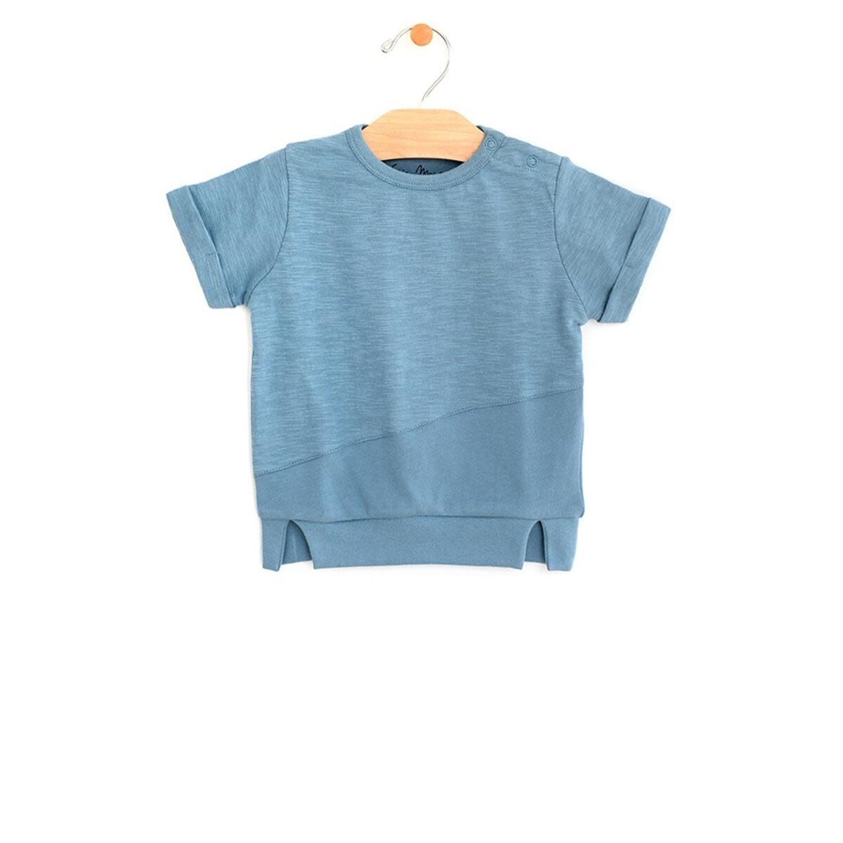 City Mouse Mixed Media Pull Over - Ocean