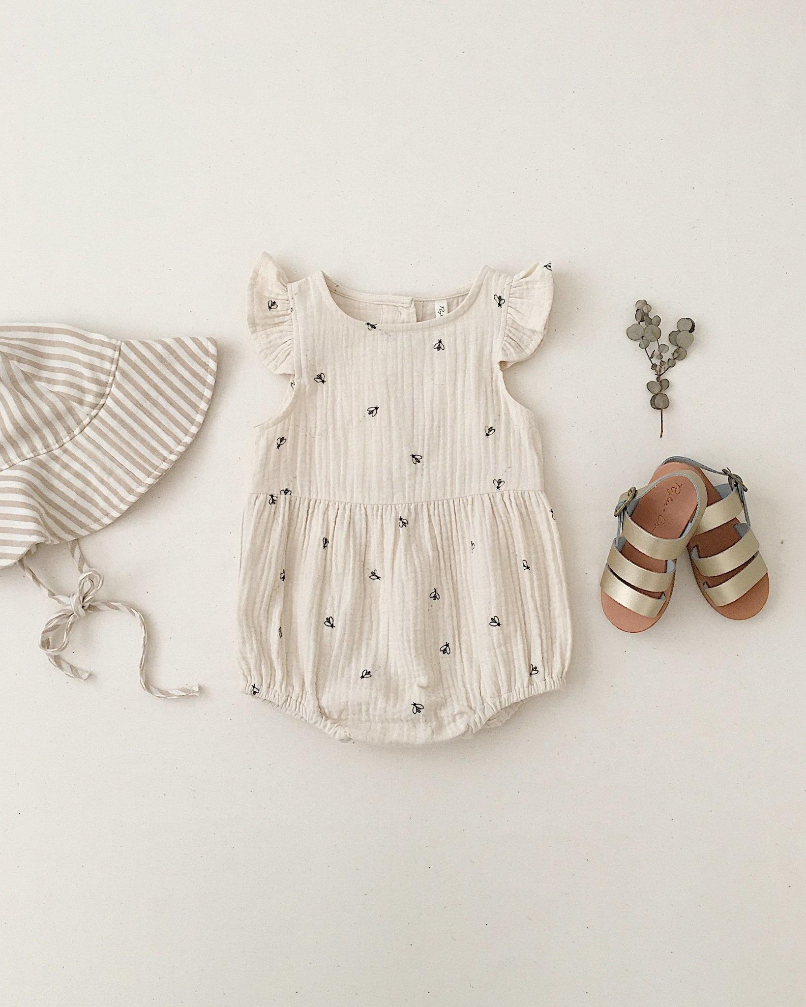 Rylee & Cru Bees Amelia Baby Romper