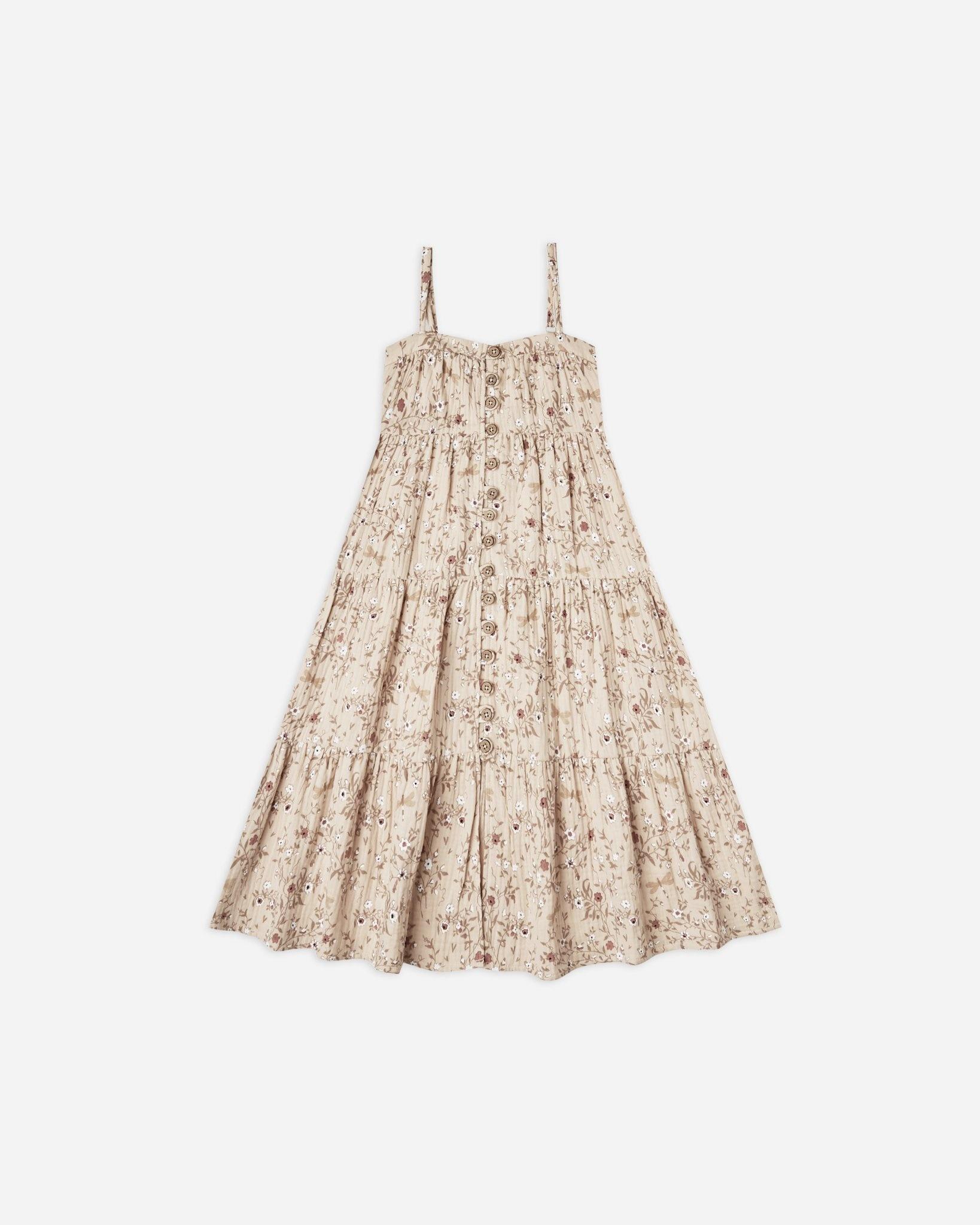 Rylee & Cru Dragonfly Tiered Maxi Dress