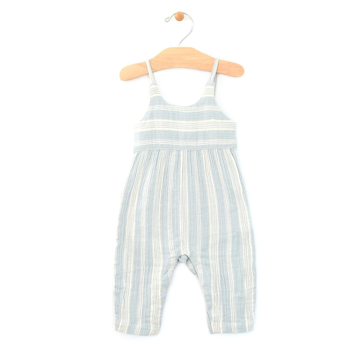 City Mouse Long Tank Romper - Stripes