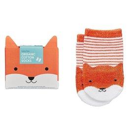Petit Collage Organic Socks - Baby Fox