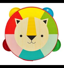 Petit Collage Wooden Tambourine - Kaleidoscope Lion
