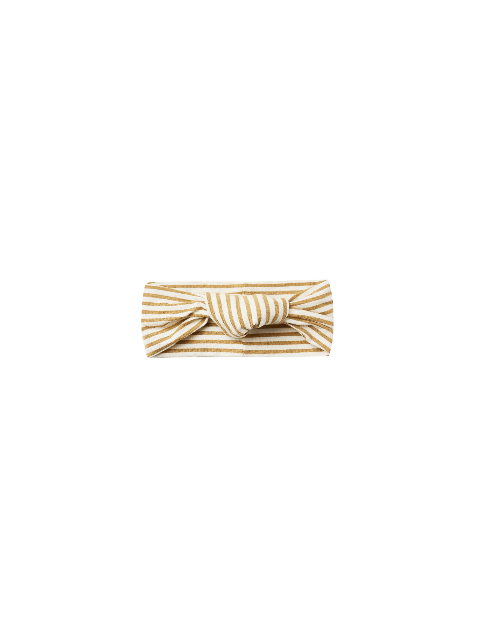 Quincy Mae Knotted Headband - Gold Stripe