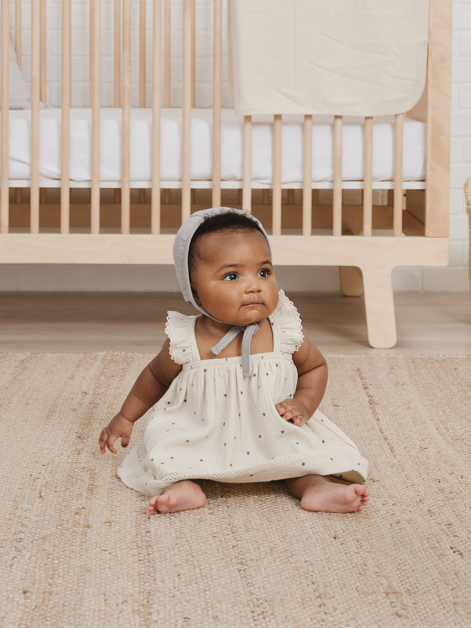 Quincy Mae Woven Ruffle Dress - Natural