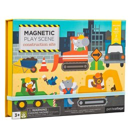 Petit Collage Magnetic Play Scene - Construction Site