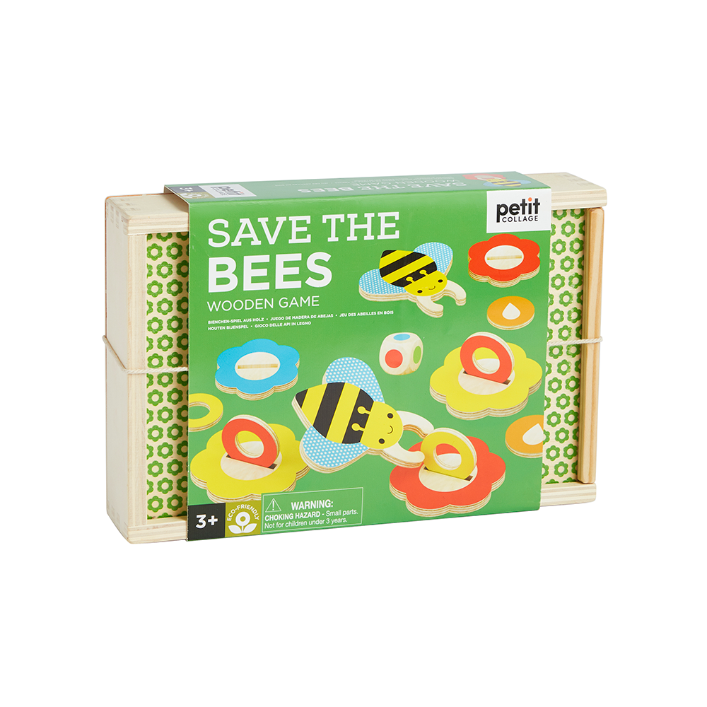 Petit Collage Wooden Game - Save The Bees