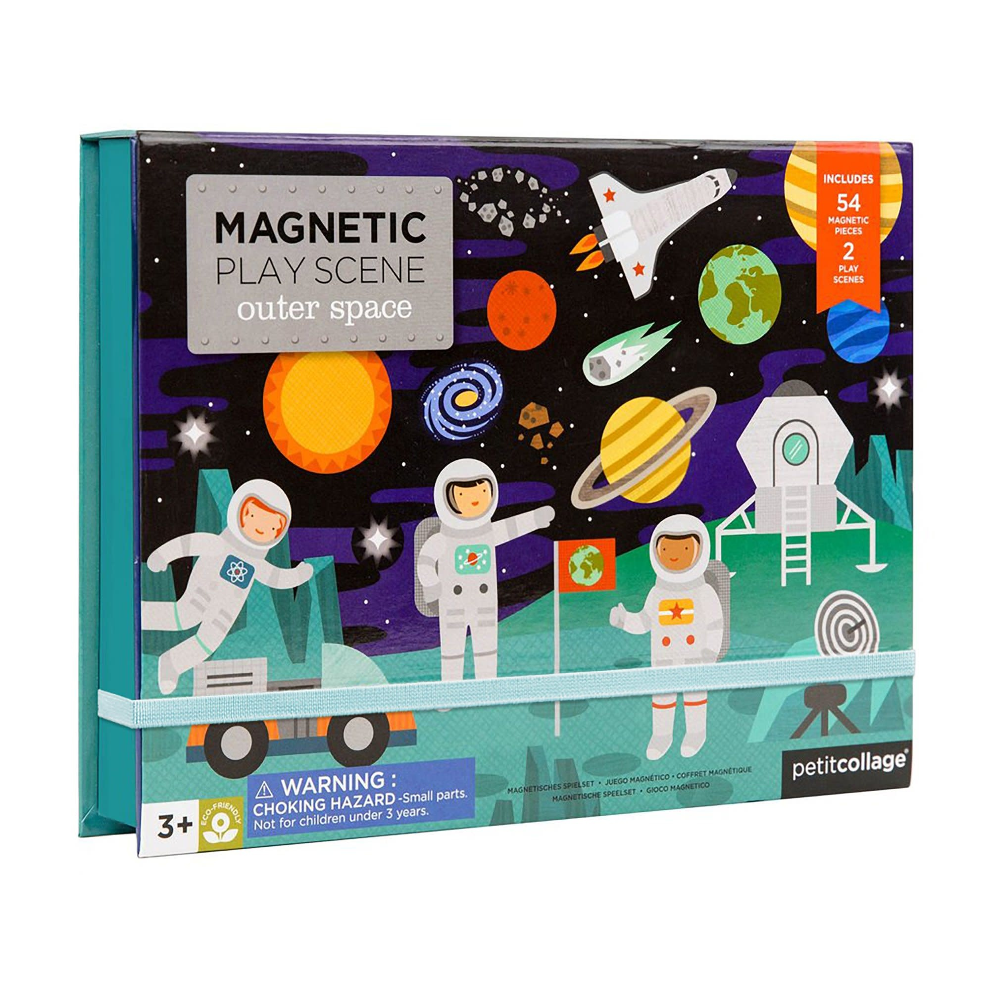 Petit Collage Magnetic Play Scene - Outer Space