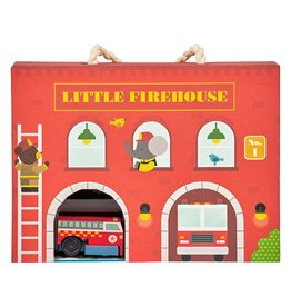 Petit Collage Wind Up & Go Play Set - LIttle Firehouse