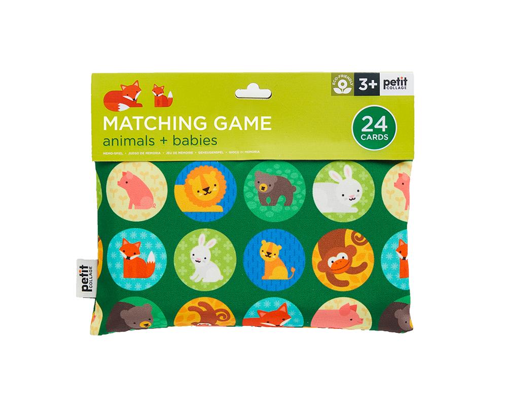Petit Collage Matching Game - Animals + Babies