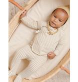 Quincy Mae Wrap Top + Pant Set - Gold Stripe