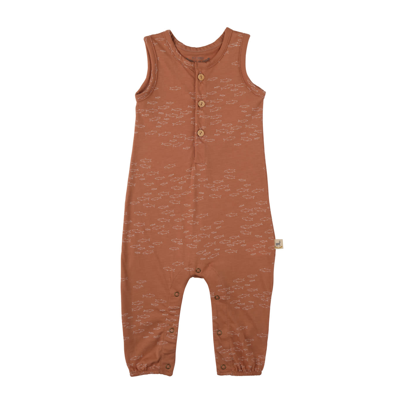 Red Caribou Jumpsuit - Schooling Fish