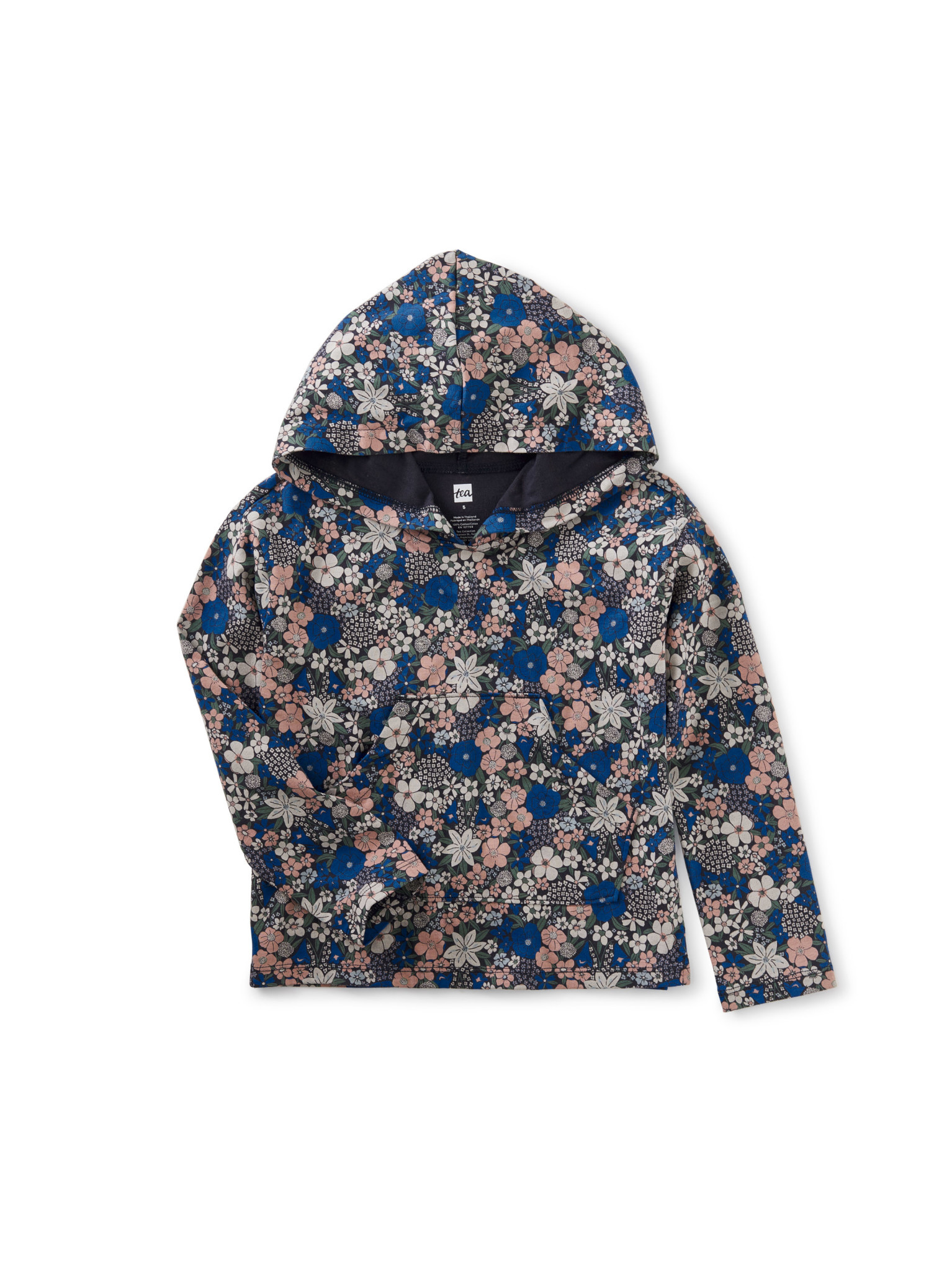 Tea Collection Front Pocket Hooded Top - Swedish