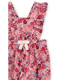 Tea Collection Floral Ruffle Romper - Wildflower