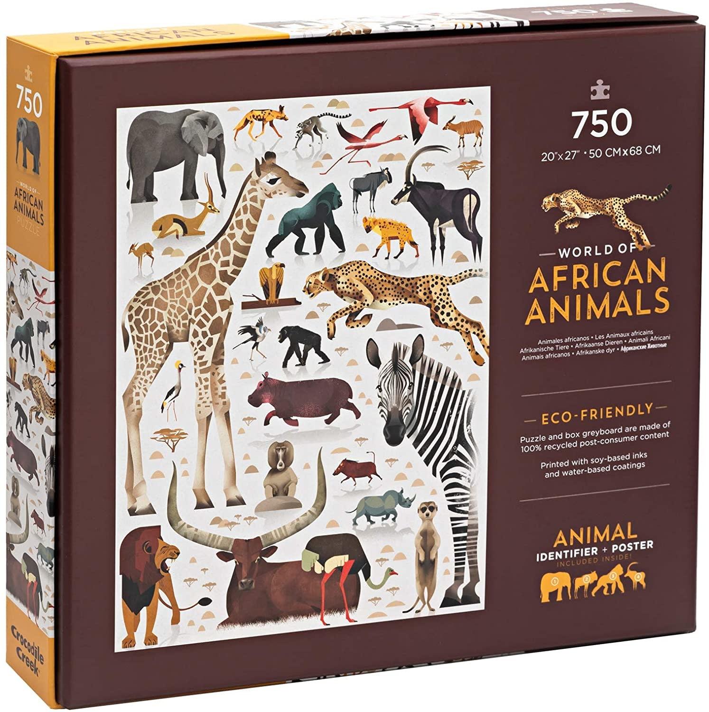 Crocodile Creek 750 pc World of African Animals Puzzle