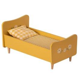 Maileg Wooden Bed Mini - Yellow