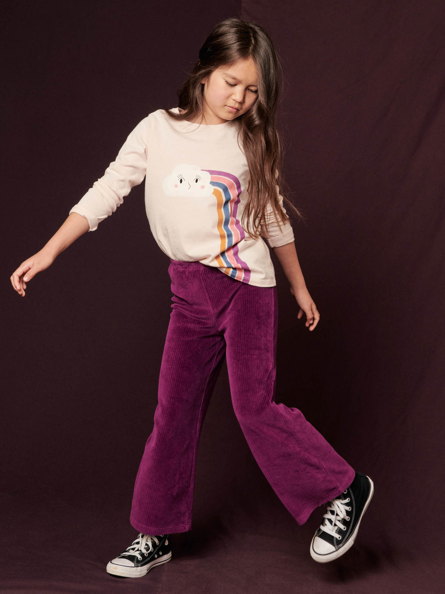 Tea Collection Flare Pants - Cosmic Berry