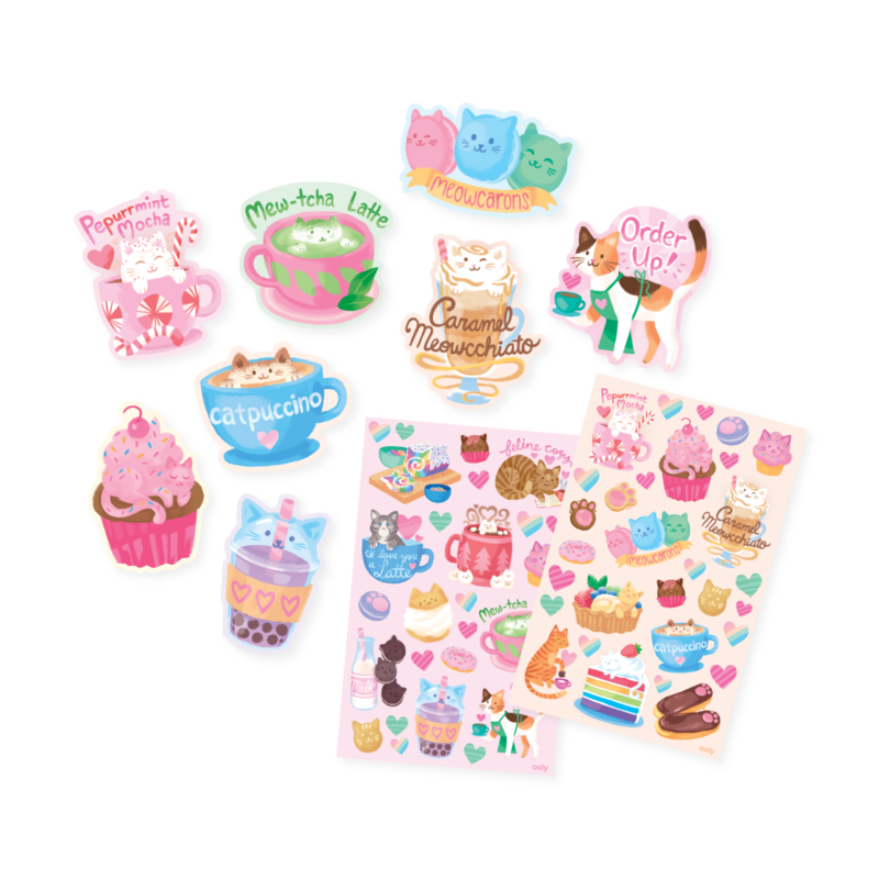 Ooly Scented Scratch Stickers - Cat Cafe