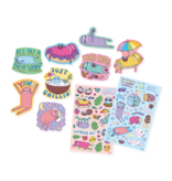 Ooly Scented Scratch Stickers - Sleepy Sloths
