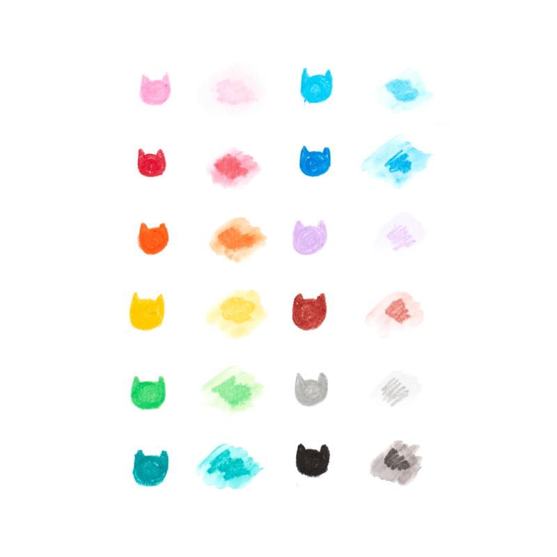 Ooly Cat Parade Watercolor Gel Crayons