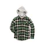 Appaman Glen Hooded Shirt - Moss Plaid