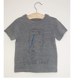 Anchors-N-Asteriods D is for David Tee - Grey