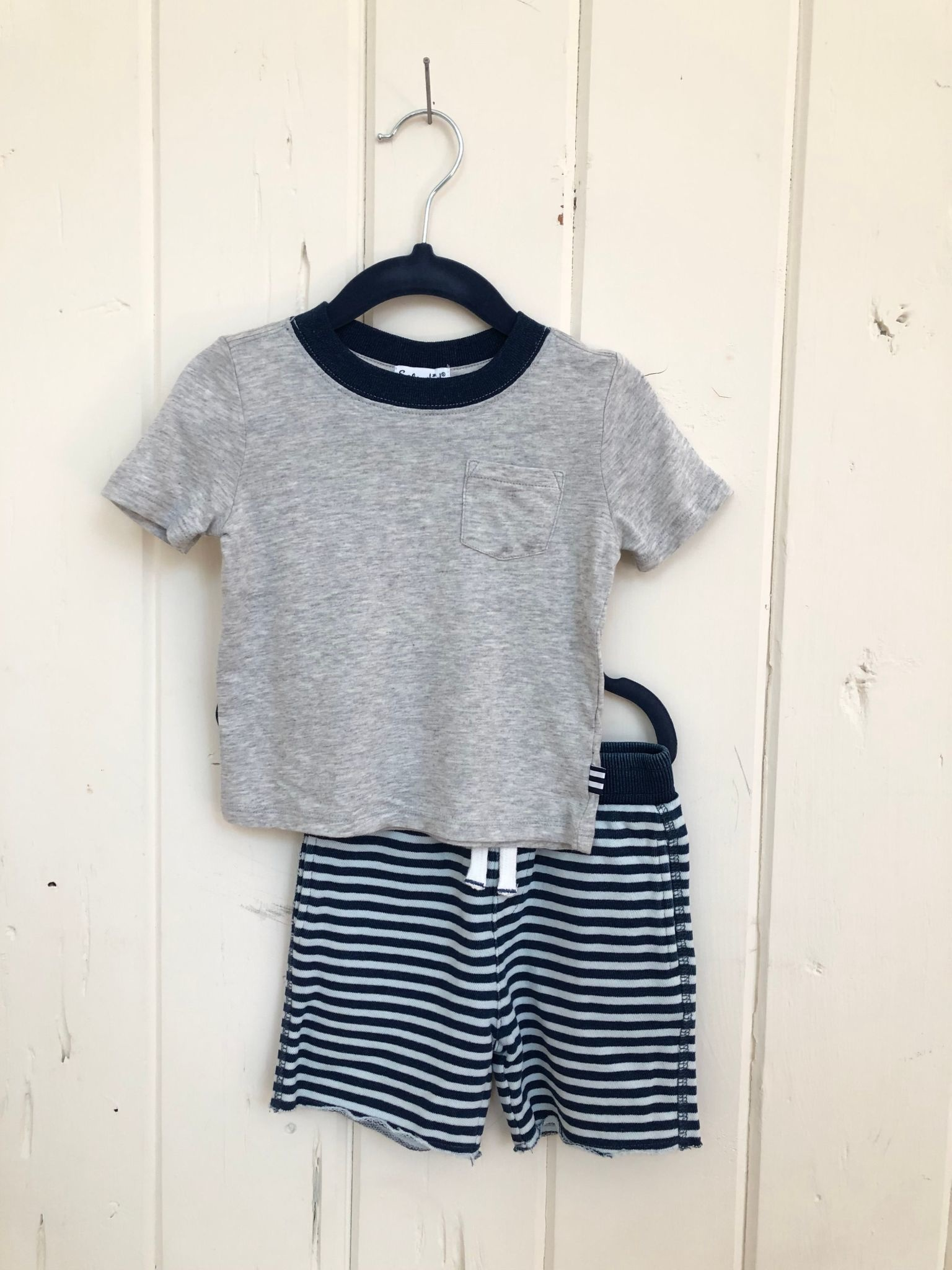 Splendid Indigo Stripe Short + Tee Set