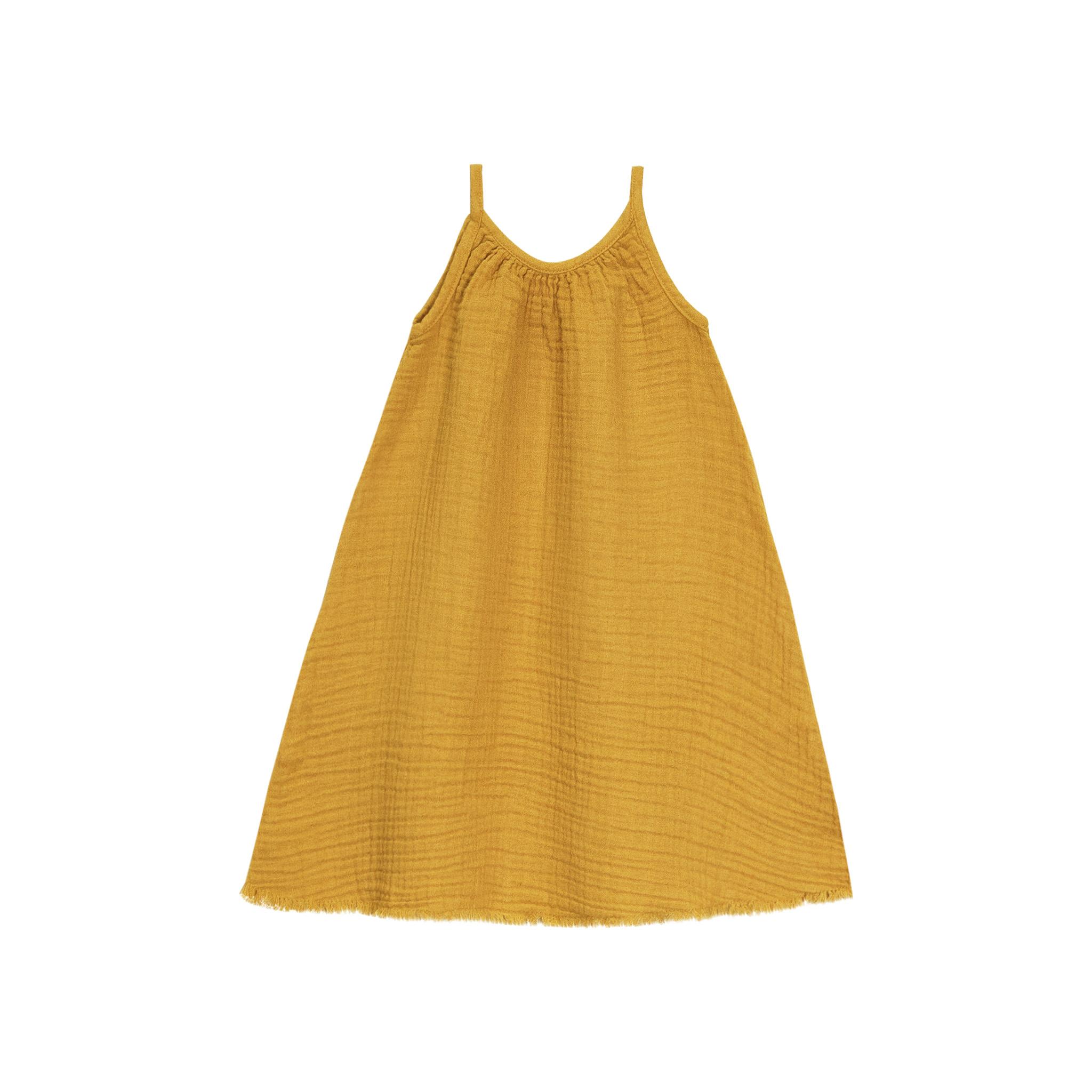 Go Gently Nation Gauze Dress - Golden