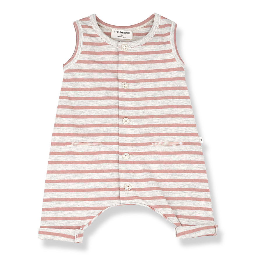 One More In The Family Nuoro Overall - Rose