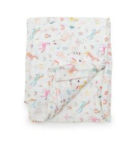 Loulou Lollipop Swaddle Blanket - Unicorn Dream